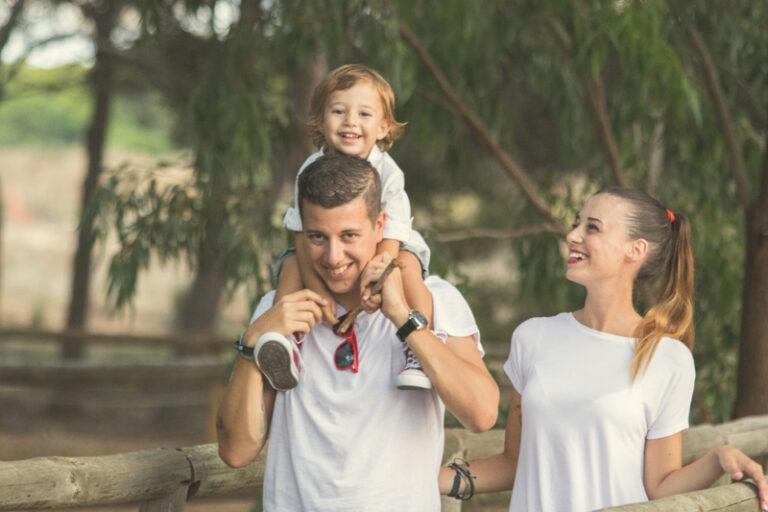 Reportaje padres con hijo