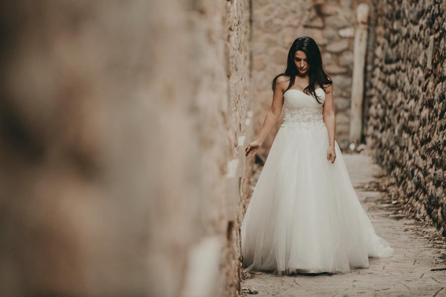 novia caminando