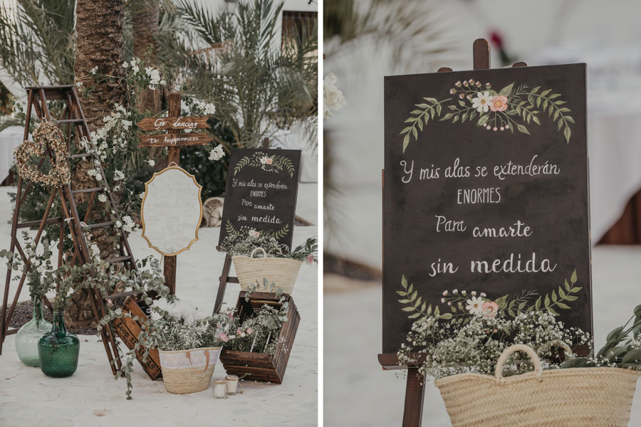 decoración de boda en Villa María Bonita Crevillente