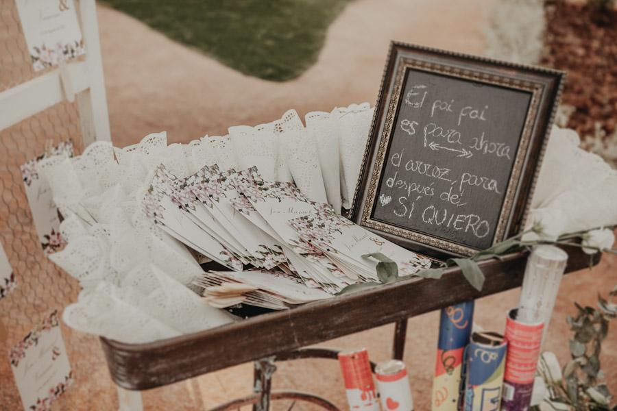 decoración boda Villa María Bonita en Crevillente