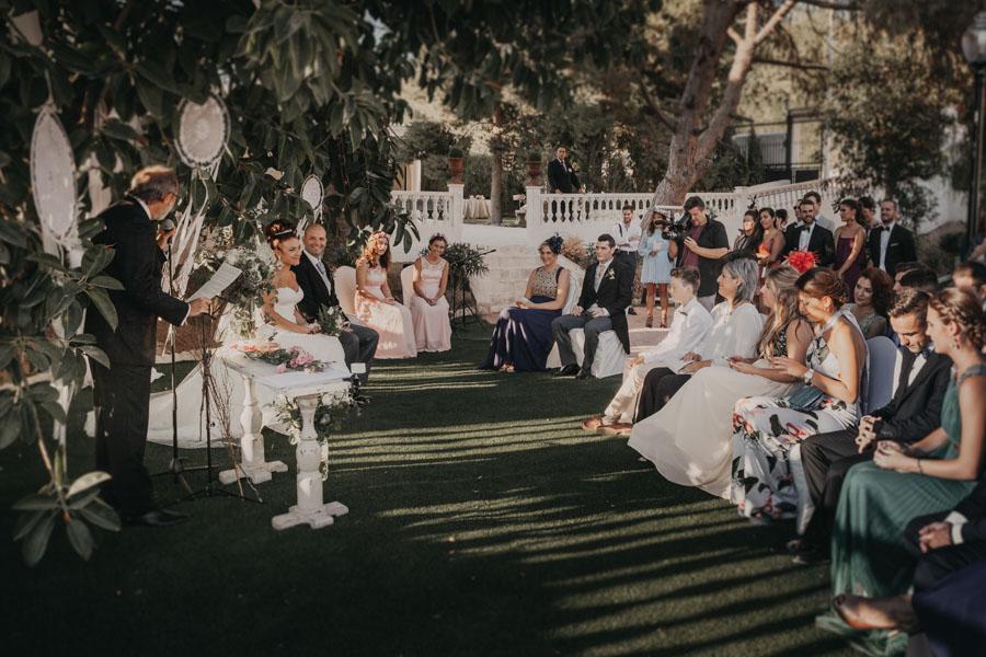 la ceremonia de boda en villa maría bonita