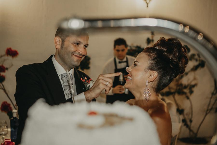 tarta de boda en Villa María Bonita