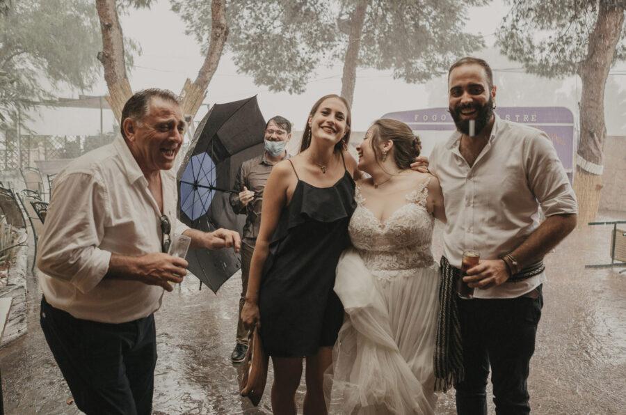 Boda Vanessa y Albert bajo la lluvia